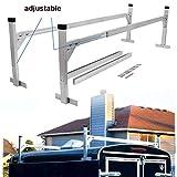 Lonwin Adjustable Aluminum Trailer Ladder Rack fit for Enclosed Trailers