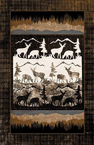 Furnish Max 80% OFF My Place Pine Moose Lodge Rug Popular brand in the world – x 7ft. 11ft Mult 8in.