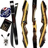 Southwest Archery TigerShark Premium Takedown Recurve Bow USA |Limited TIME Sale| Available with Stringer Tool | Weights 29-60 lb | Left and Right Handed | Assembly Instructions Included | RH 50