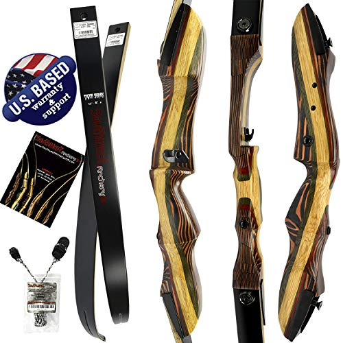 Southwest Archery TigerShark Premium Takedown Recurve Bow |Limited TIME Sale| Available with Stringer Tool | Weights 25-60 lb | Left or Right Hand | Assembly Instructions Included (25 lb, Left)