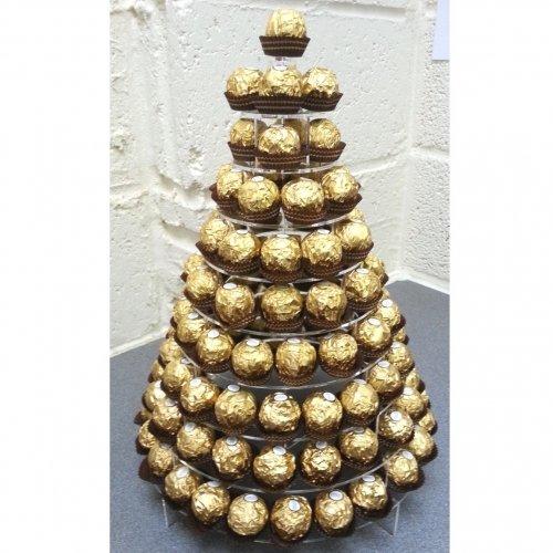 Super Cool Creations Runder Ständer für Süßigkeiten Ferrero Rocher - 3 Größen - Acryl, 10 Etagen