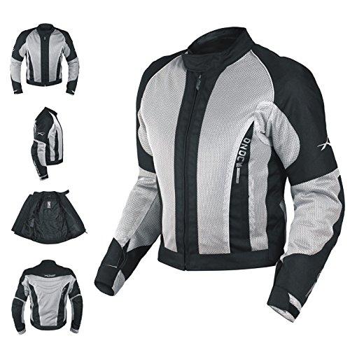 A-PRO Textiljacke Atmungsaktiv Mesh Durchloechert Motorrad Protektoren Grau XXL