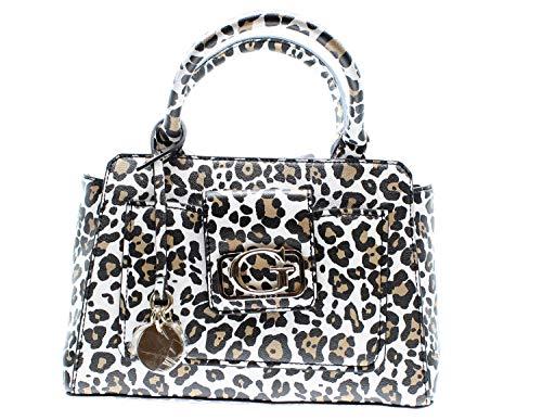 Guess HWLG7743060 - Bolso de mano de piel para mujer Leopardo Talla...
