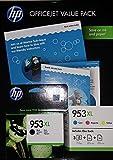 HP 953XL Set 4 Cartuchos originales: cada uno x negro, cian, magenta, amarillo Relleno de XL para hp Officejet Pro 8210 8218 8710 8715 8718 8719 8720 8725 8730 8740