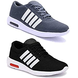 WORLD WEAR FOOTWEAR Men Multicolour Latest Collection Sports Running Shoes – Pack of 2 (Combo-(2)-9063-9064)