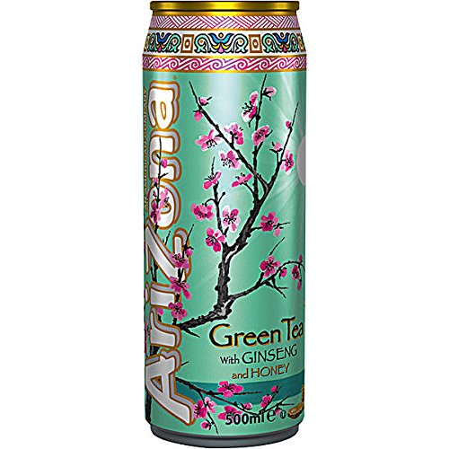 Arizona Green Tea Ginseng Honey 12 x 500ml Dosen (inkl. 3,00 Euro EINWEG Pfand)