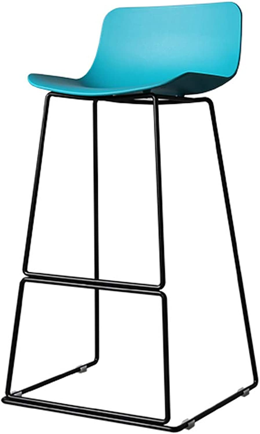 Industrial Style High Stool Iron Art Bar Stool Kitchen Chair Seat Breakfast Chair,Metal Frame PP, for Pub Counter Cafe Kitchen Home