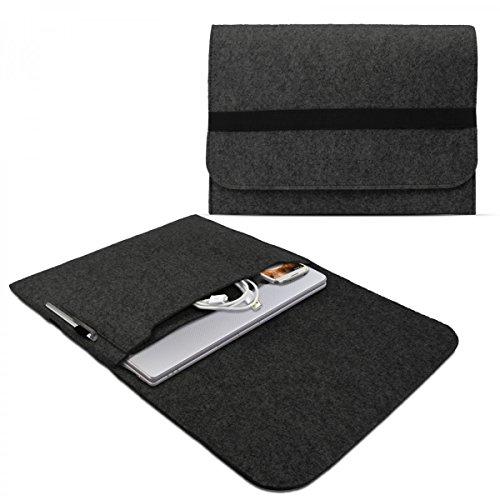 eFabrik Filz Schutztasche für Asus Zenbook Ux305FA / Ux303LA Schutz Hülle Tasche Sleeve Hülle Slim Cover zum Transport zur Aufbewahrung, Farbe:Dunkel Grau