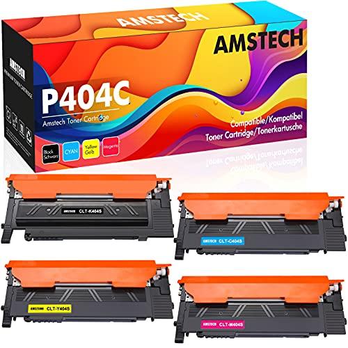 Amstech Cartuccia toner Compatibile In sostituzione di Samsung CLT-K404S CLT-C404S CLT-M404S CLT-Y404S Xpress SL C480FW C430W C430 C480 C480W C480FN (Nero,Ciano,Giallo,Magenta,confezione da 4)