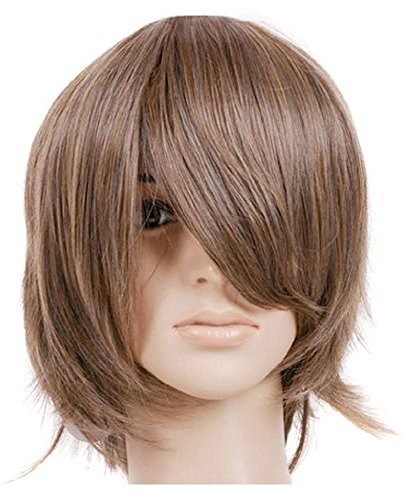 Brown Short Length Anime Cosplay Costume Wig