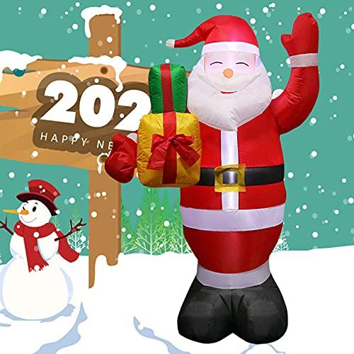 Influfables Santa Claus con Luces LED Navidad Año Nuevo Año Nuevo Yarda Al Aire Libre Decoración,1PC