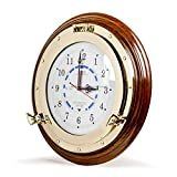 Nagina International Objets de Collection «Beautiful Navy Style Time» (Marine), Style «Marine», avec Horloge et marée (18 Pouces)