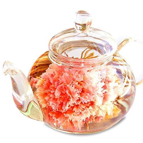 母の日のプレゼント 人気 誕生日 ギフト 花咲くお茶 カーネーション茶 工芸茶10種類 と ティーポット 優雅セット お茶&茶器セット RIMTAE