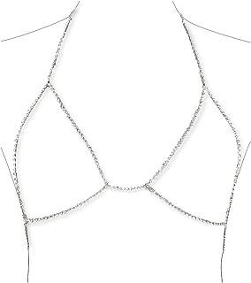 Diamond Sexy Chain Necklace Summer Bikini Bra Accessories Beach Party Body Jewelry