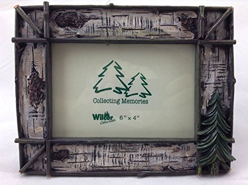 WD Rustic Twig & Birch w/Pine Tree Photo Frame 6x4, Horizontal