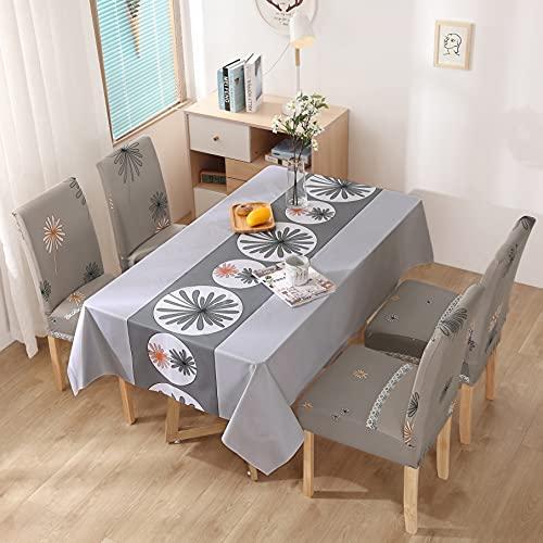 XXDD Mantel Impermeable, Mantel y Funda para Silla, combinación de Mantel de Restaurante, decoración de Cocina del hogar del Hotel, A9 140x200cm