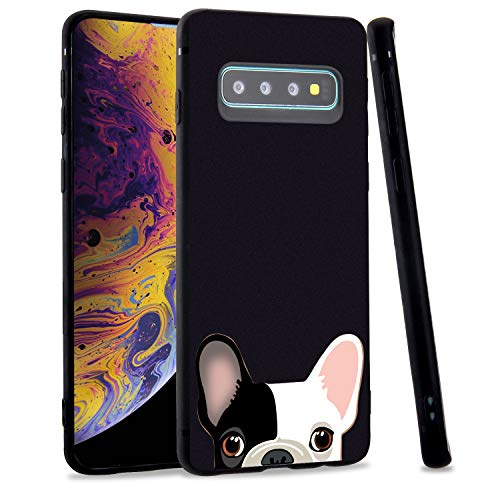 LuGeKe French Bulldog Phone Case for Samsung Galaxy S8, Puppy Dogs Patterned Case Cover,Soft TPU Cover Flexible Ultra Slim Anti-Stratch Bumper Protective Girls Phonecase(Pups)