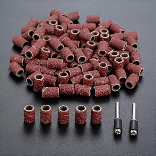XCQ 100 stücke 1/4'6.35mm Trommel Schleifband Nagelbohrer + 2 stücke Banddorn 1/8' 3mm Schaft für Rotation Werkzeug Dremel Zubehör langlebig 0429 (Grit : 240)