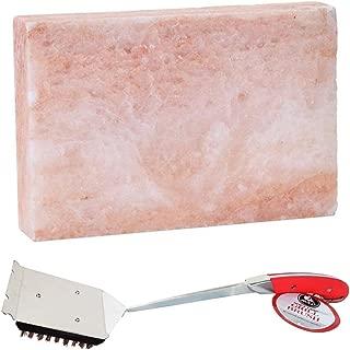 MRT SUPPLY Gourmet Himalayan Pink Salt Block & Avant Grill Brush w/Natural Bristles with Ebook