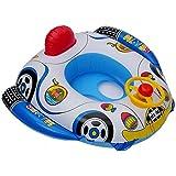 自動車型ベビーボート 幼児用 足入れ式 浮き輪 ハンドル付き 乗って遊べる 映える浮輪 スイミングフロート ミニカー型ボート お子様の水遊びに FMTKCARU100