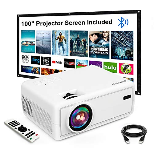 Mini Projector, GROVIEW Outdoor Movie Projector...