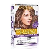L'Oréal Paris Tinta Capelli Excellence Cool Creme, Copre i Capelli Bianchi, Colore Ricco dai Toni Freddi, 7.11