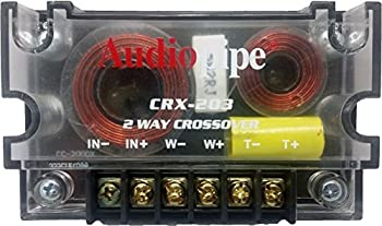 Audiopipe CRX-203 2 Way 4 Ohm Car Audio Passive Crossover Networks  2 Pack