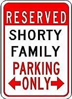 金属サイン短い家族駐車場ノベルティスズストリートサイン