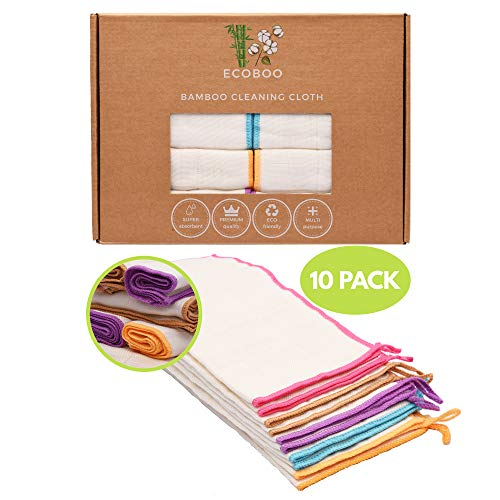 Reusable Bamboo Towels   Kitchen Unpaper Towel   Eco-Friendly Paper Towel Alternative   Baby Organic Wipes   Unbleached Cleaning Cloth   Washable Napkins   Thick&Strong Kitchen Roll