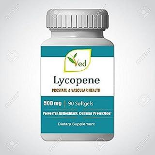Lycopene 500 mg   90 Softgel,Prostate & Vascular Health and Powerful Antioxidant Natural Formula