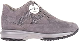 Luxury Fashion | Hogan Women HXW00N0S360O6UB800 Grey Suede Sneakers | Autumn-winter 20