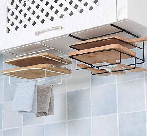 1Pc Black Iron Rack-Speicher-Organisator für Küchenregale Handtuchhalter Haken Lagerung RackKitchen Halter-Zahnstange Küche Organizer