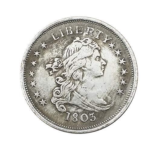 Xinmeitezhubao Antike Silbermünze, amerikanische Silber-Dollarsammlung aus 1803 Alten weißen Kupfermünzen