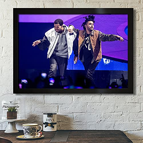 The Weeknd Wiken Rap Rapper Hip Hop Potted Brother Sala de Estar Sofá Arte de la Pared Decoración para el hogar Imagen Lienzo Pintura Póster 50x70cm F-1550