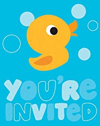 Creative Converting Lil' Quack Party Birthday or Baby Shower Invitations