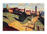 《Casco antiguo II》Wassily Kandinsky Cuadro Lienzo Impresión Pintura póster Reproducción Lienzo Pintura al óleo Decoración Moderna Para el Hogar Arte (40x60cm(15.7x23.6in),Sin Marco)