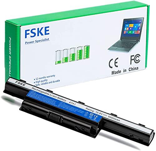 FSKE® AS10D31 AS10D51 Batteria per Acer AS10D81 AS10D3E AS10D41 AS10D73 AS10D61 AS10D75 Aspire Travelmate 5735Z 5750 5733 4741 Notebook Battery,10.8V 5000mAh 6-Cellule