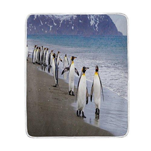 Use7 Home Decor Ocean Beach Niedliche Pinguin-Decke, weich, warm, für Bett, Couch Sofa, leicht, für Reisen, Camping, 127 cm x 152,4 cm, Überwurfgröße für Kinder Jungen und Frauen