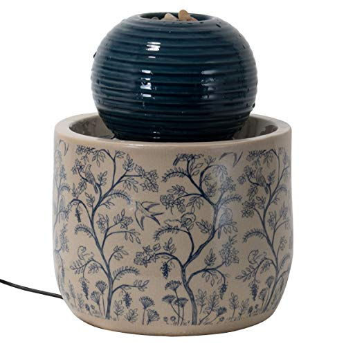 Foreside Home & Garden Multicolor Chinoiserie Ceramic Indoor Water Fountain with Pump -  FFTN09616