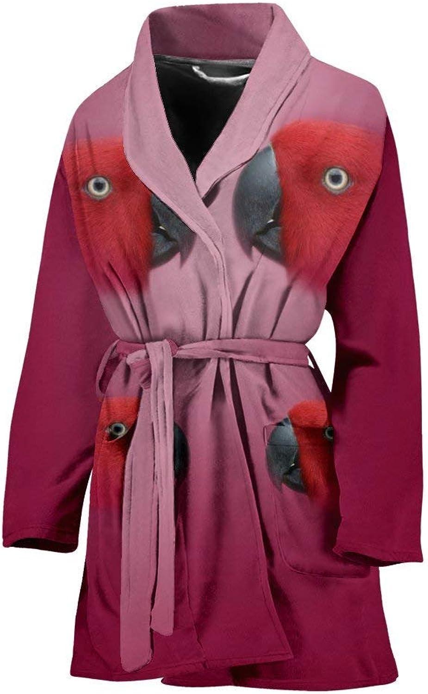 Deruj MiniMacaw Parred Print Women's Bath Robe