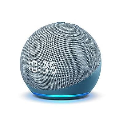 Echo Dot (4th Gen)   Smart speaker with clock and Alexa   Twilight Blue by Amazon