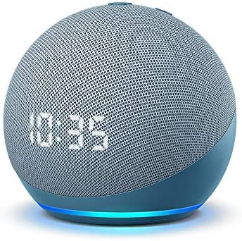 All new Echo Dot 4th Gen Smart speaker with clock and Alexa Twilight Blue product image