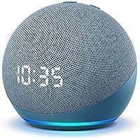 All-new Echo Dot Smart Speaker with Clock and Alexa (4th Gen) (Twilight Blue)
