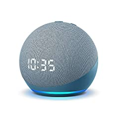 Meet the all-new Echo Dot with clock - Our most popular smart speaker with Alexa. The sleek, compact design delivers crisp vocals and balanced bass for full sound. Perfect for your nightstand - See the time, alarms, and timers on the LED display. Tap...