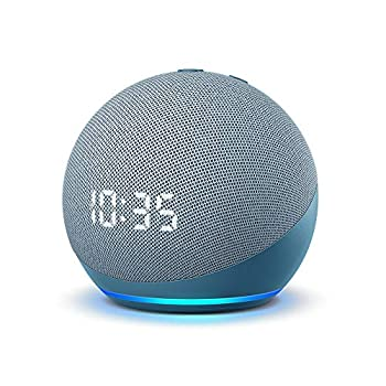 Echo Dot  4th Gen  | Smart speaker with clock and Alexa | Twilight Blue