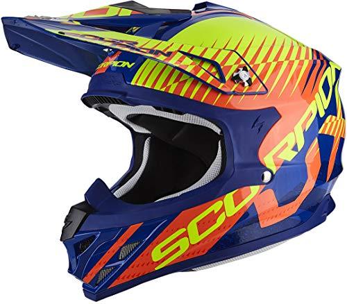 Scorpion Casco moto VX-15 EVO AIR SIN Blu-Arancia S