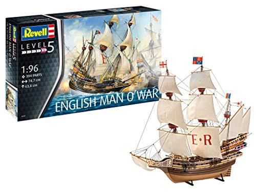 Revell-English Man O'War, Escala 1:96 Kit de Modelos de plástico, Multicolor, 1/96 05429 5429