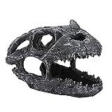 Nicoone Decoración del acuario, Resina Artificial Ceratops Dinosaurio Cráneo Pecera Decoración Paisaje Tanque de Peces Ornamento Reptil Acuario Terrario Adorno