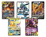5 Random Jumbo Pokemon Cards Bundle by Pro Support – No Duplicates