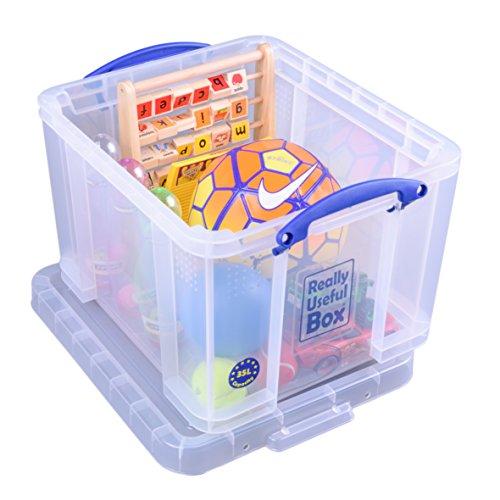 Really Useful 35C Kunststoff-Aufbewahrungsbox leicht robust stapelbar 35 Liter 480 x 390 x 310 mm transparent